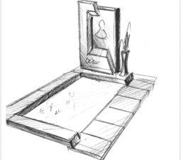 Эскиз памятника очень важен. Он позволяет увидеть памятник до начала работ. - 2478