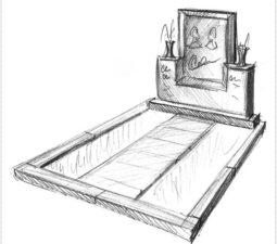 Эскиз памятника очень важен. Он позволяет увидеть памятник до начала работ. - 2479