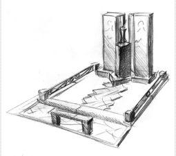 Эскиз памятника очень важен. Он позволяет увидеть памятник до начала работ. - 2481