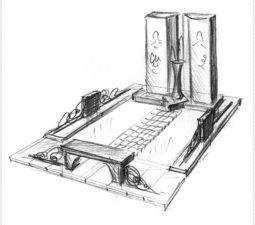 Эскиз памятника очень важен. Он позволяет увидеть памятник до начала работ. - 2482