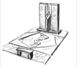 Эскиз памятника очень важен. Он позволяет увидеть памятник до начала работ. - 2484