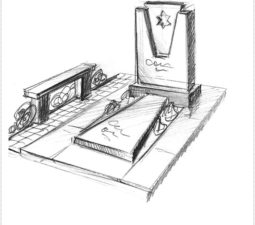 Эскиз памятника очень важен. Он позволяет увидеть памятник до начала работ. - 2485