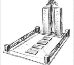 Эскиз памятника очень важен. Он позволяет увидеть памятник до начала работ. - 2486