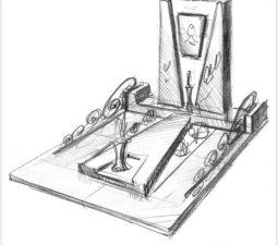 Эскиз памятника очень важен. Он позволяет увидеть памятник до начала работ. - 2488