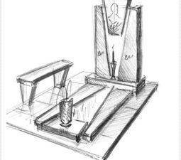 Эскиз памятника очень важен. Он позволяет увидеть памятник до начала работ. - 2490
