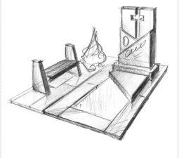 Эскиз памятника очень важен. Он позволяет увидеть памятник до начала работ. - 2491
