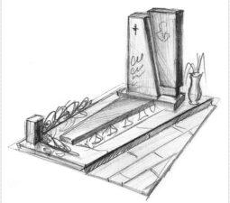 Эскиз памятника очень важен. Он позволяет увидеть памятник до начала работ. - 2492