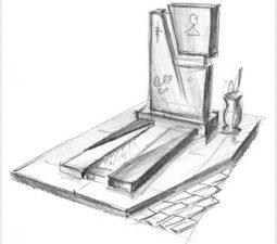 Эскиз памятника очень важен. Он позволяет увидеть памятник до начала работ. - 2493