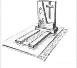 Эскиз памятника очень важен. Он позволяет увидеть памятник до начала работ. - 2494