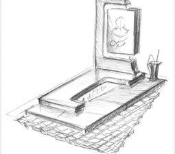 Эскиз памятника очень важен. Он позволяет увидеть памятник до начала работ. - 2495