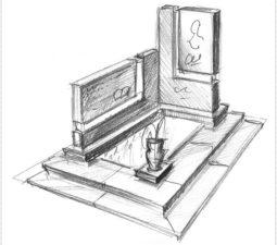 Эскиз памятника очень важен. Он позволяет увидеть памятник до начала работ. - 2496