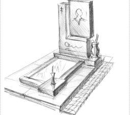 Эскиз памятника очень важен. Он позволяет увидеть памятник до начала работ. - 2497