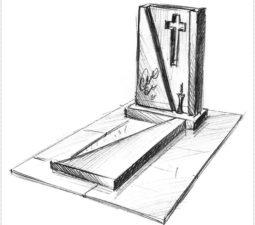 Эскиз памятника очень важен. Он позволяет увидеть памятник до начала работ. - 2502