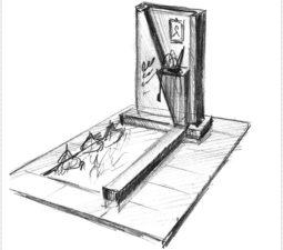 Эскиз памятника очень важен. Он позволяет увидеть памятник до начала работ. - 2503