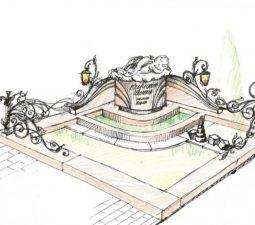 Эскиз памятника очень важен. Он позволяет увидеть памятник до начала работ. - 2505