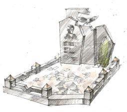 Эскиз памятника очень важен. Он позволяет увидеть памятник до начала работ. - 2506