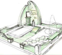 Эскиз памятника очень важен. Он позволяет увидеть памятник до начала работ. - 2507