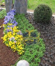 Ландшафтный дизайн при благоустройстве могил на кладбище - 26