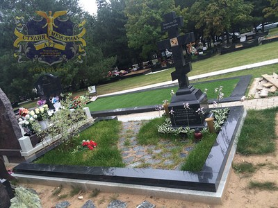 Мемориал Православный памятник на могилу -Крест из мрамора CМА-11.08