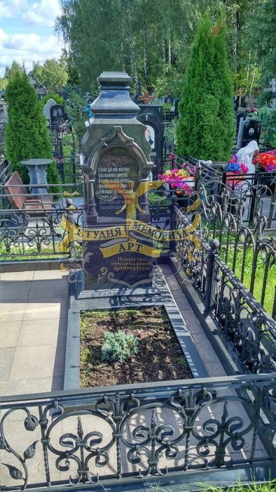 Мемориал Православный памятник на могилу- Крест из мрамора CМА-11.05