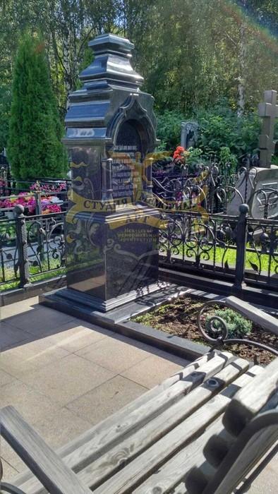 Мемориал Православный памятник на могилу Крест из мрамора CМА-11.02
