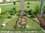 Ландшафтный дизайн при благоустройстве могил на кладбище - 33