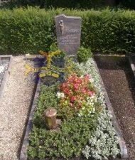 Ландшафтный дизайн при благоустройстве могил на кладбище - 37
