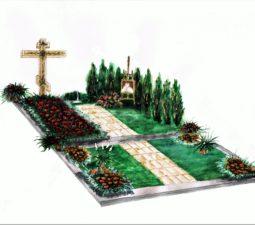 Озеленение могил - 3902