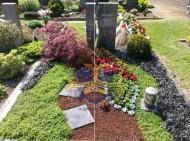 Ландшафтный дизайн при благоустройстве могил на кладбище - 45