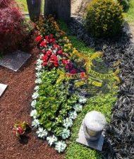 Ландшафтный дизайн при благоустройстве могил на кладбище - 47