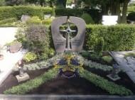 Ландшафтный дизайн при благоустройстве могил на кладбище - 59