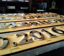 Накладные надписи и орнаменты (сталь, латунь, бронза) - 6163