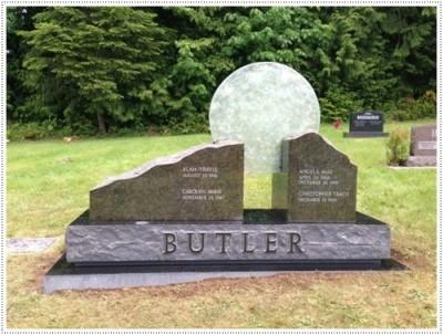 Мемориал Надгробные памятники из стекла модель 003