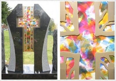 Мемориал Надгробные памятники из стекла модель 020
