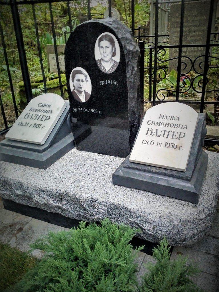Установлен на Еврейском кл., г. Санкт-Петербург.Мемориал