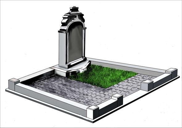 Памятник валун на могилу - 01-42