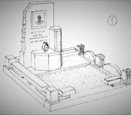 Памятник валун на могилу - 01