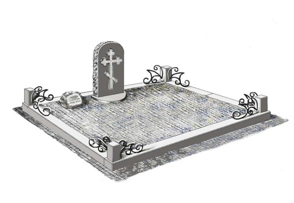 Памятник валун на могилу - 0122