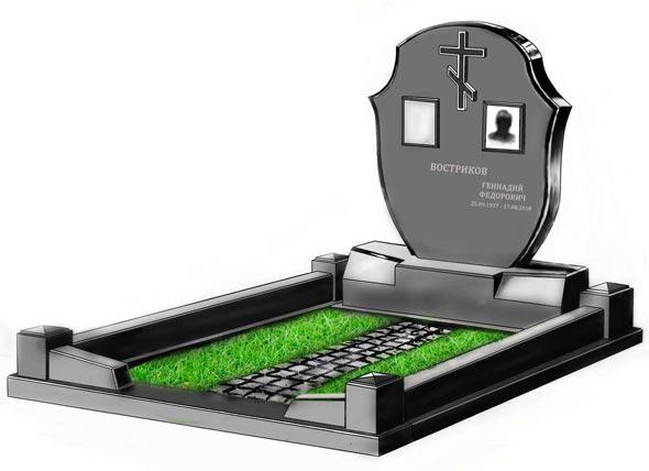 Памятник валун на могилу - 0132