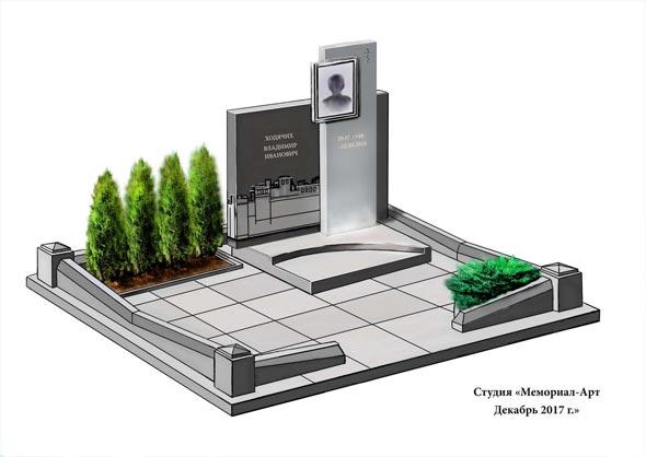 Памятник валун на могилу - 0142