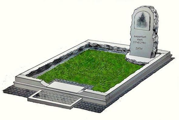 Памятник валун на могилу - 02-42