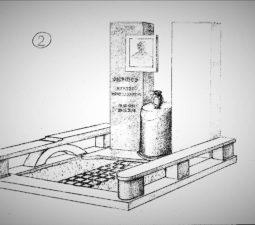 Памятник валун на могилу - 02