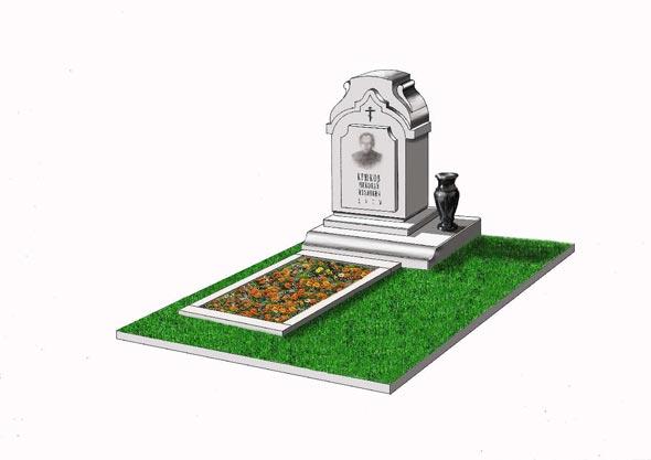 Памятник валун на могилу - 022