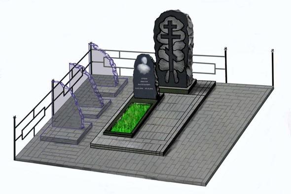 Памятник валун на могилу - 03-42