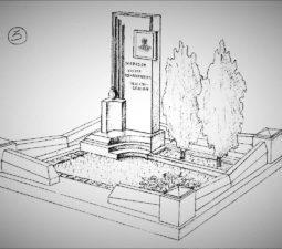 Памятник валун на могилу - 03