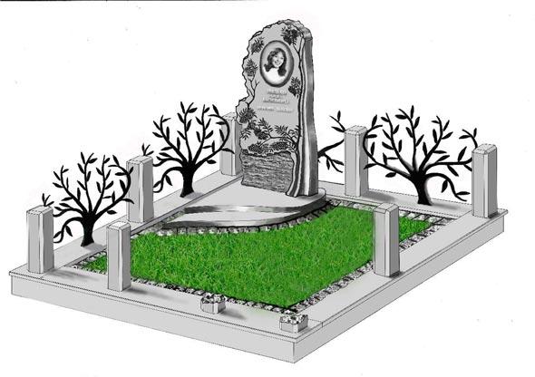 Памятник валун на могилу - 032