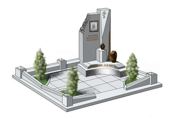 Памятник валун на могилу - 04-32