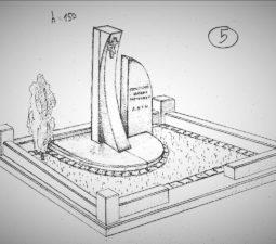 Памятник валун на могилу - 04