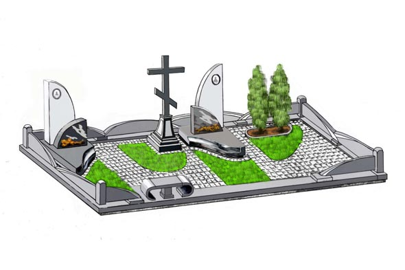 Памятник валун на могилу - 05-32
