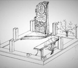 Памятник валун на могилу - 05